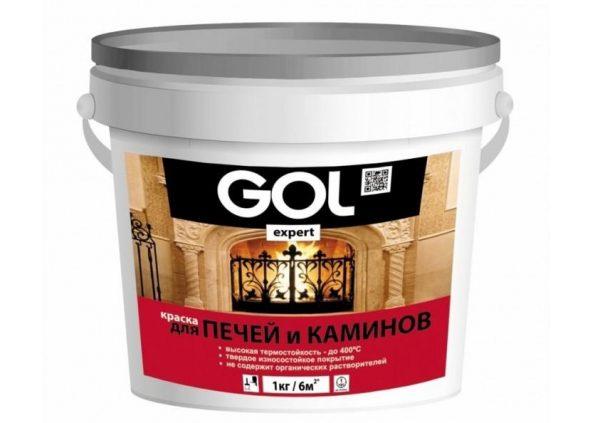 Термостойкая краска для печей и каминов GOLexpert