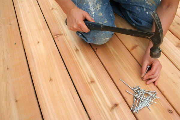 Устранение скрипа деревянных полов