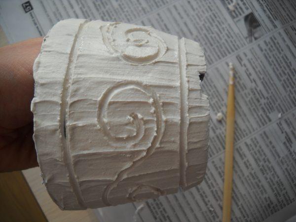Создание текстуры на горшке