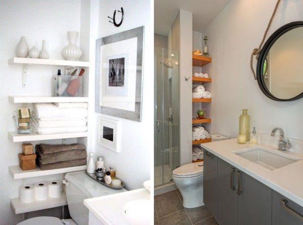 Организация пространства в маленькой ванной