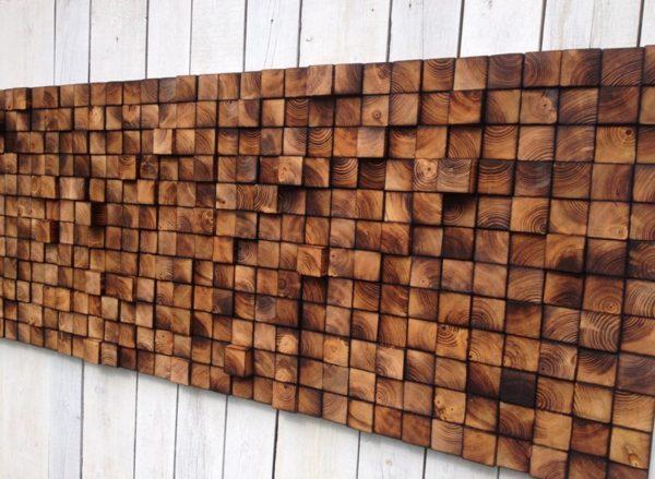 Декор из деревянных брусков