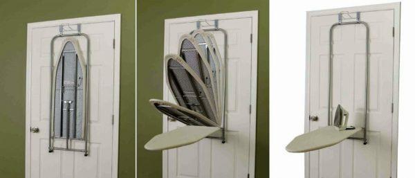 Гладильная доска на двери