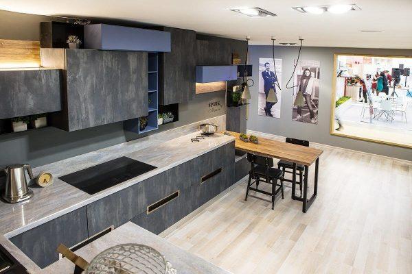Кухонная мебель из бетона в стиле лофт