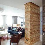 Несущая колонна в комнате