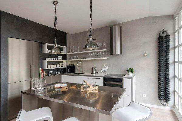 Оформление кухни в индустриальном стиле