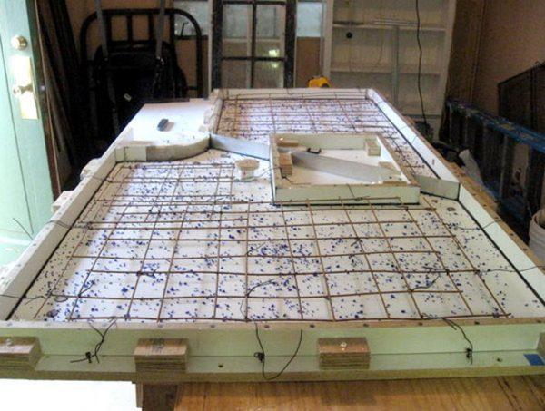 Опалубка для бетонной столешницы