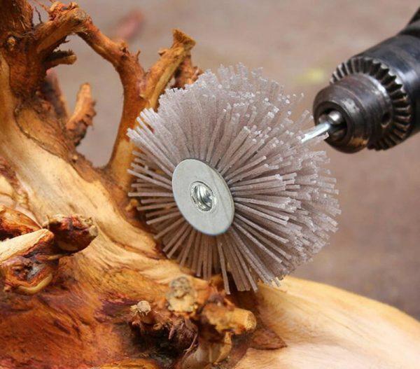 Шлифование деревянной заготовки
