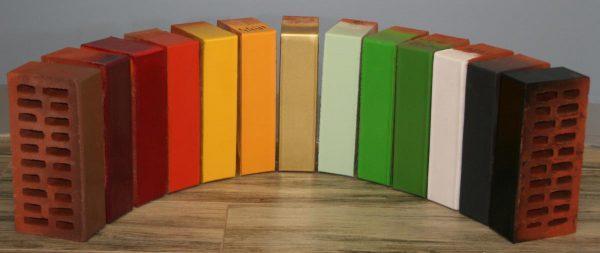 Цветной глазурованный кирпич