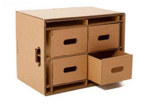 Экологичная мебель из картона