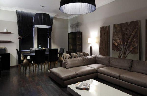 Гостиная в квартире Кэти Топурия