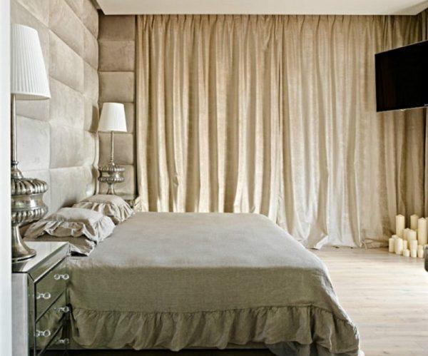 Интерьер спальной комнаты в новой квартире