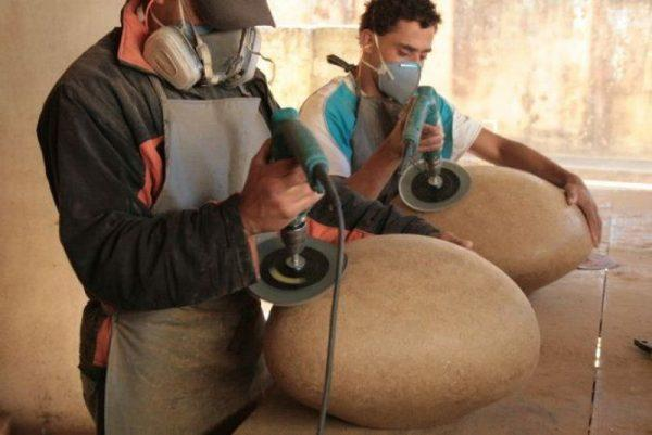 Изготовление картонных камней