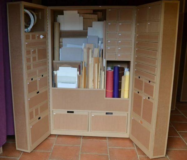 Изготовление шкафа из гофрокартона