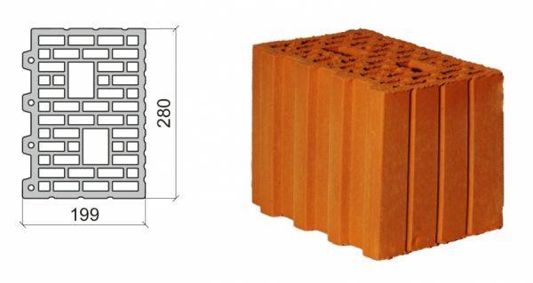 Керамический блок крупноформатный Poromax-250