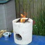 Мини-печь из бетона