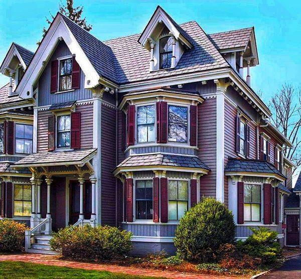 Окраска фасада в старинном стиле