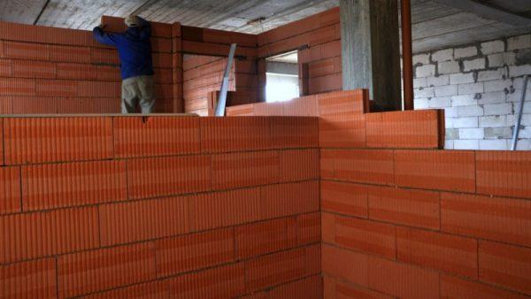Перегородки из керамических блоков