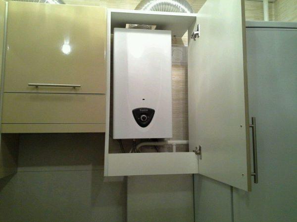 Шкафчик для газовой колонки