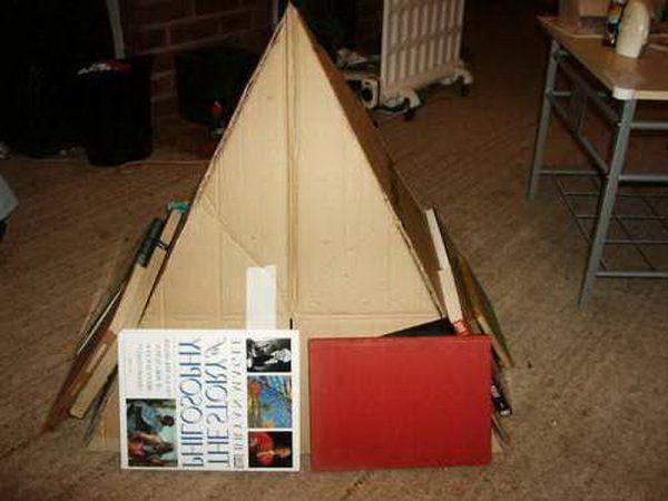 Склеивание пирамиды