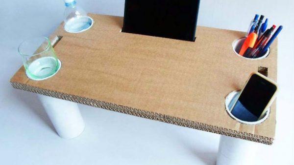 Столик из листов гофрокартона