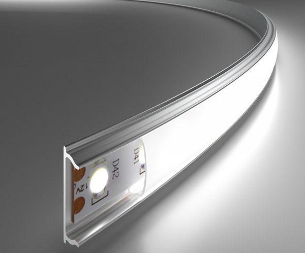 Гибкий алюминиевый профиль для светодиодной ленты