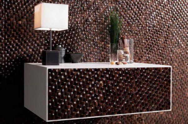 Лакированная мозаика из кокоса
