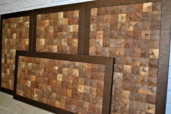 Картины из кокосовой мозаики