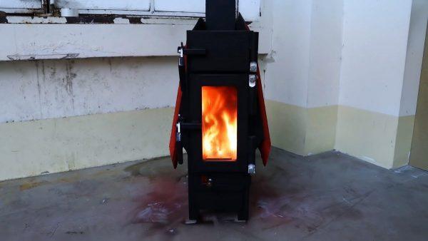 Печка из старой батареи