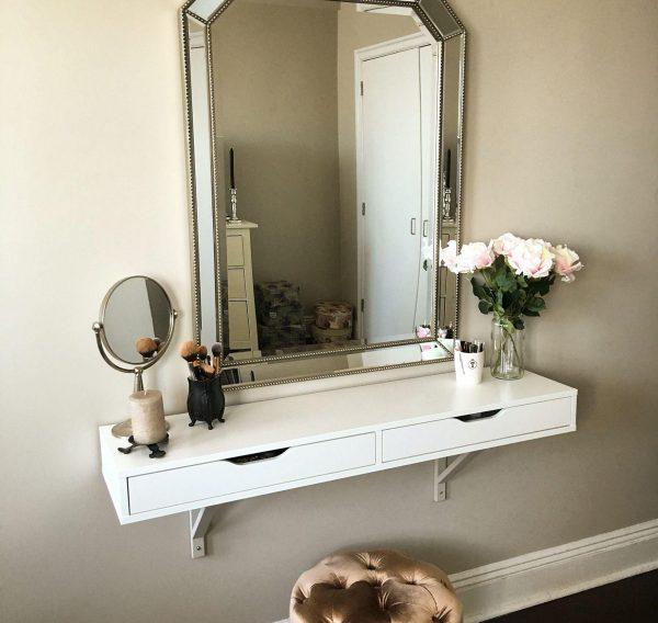 Подвесной столик с зеркалом