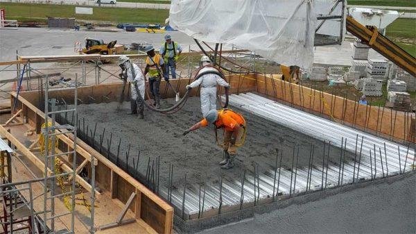 Применение токопроводящего бетона Shotcrete