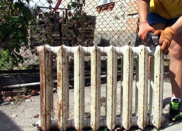 Разборка старого радиатора