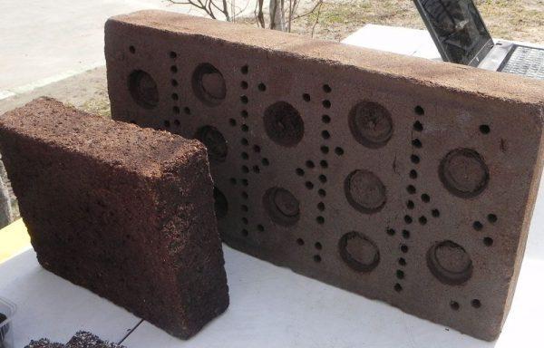 Виды торфяных блоков
