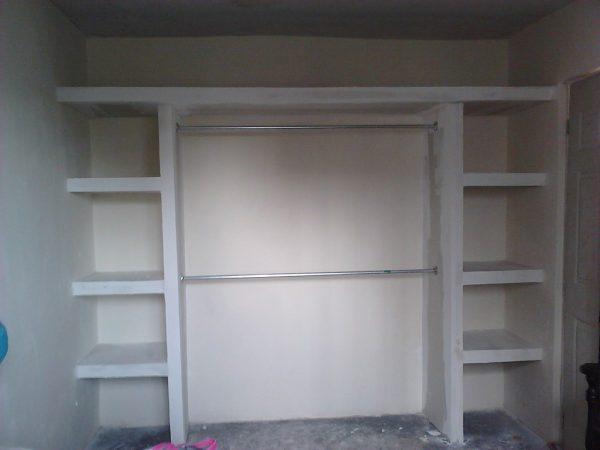 Встроенный шкаф из ГКЛ