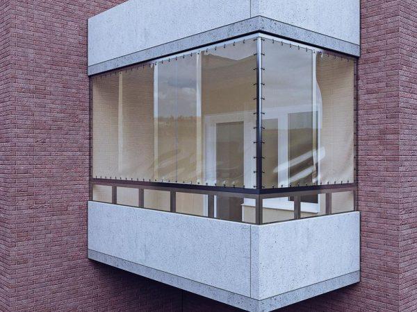 Закрытие балкона с помощью мягких окон