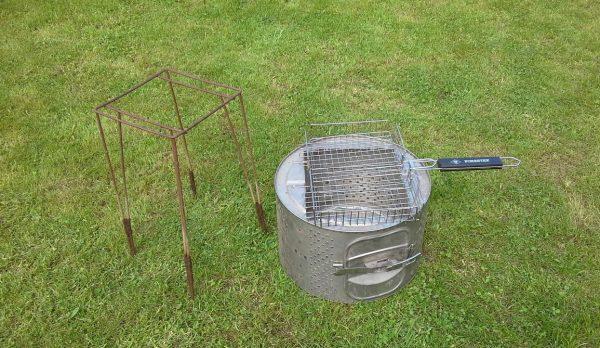 Готовый мангал из барабана стиралки