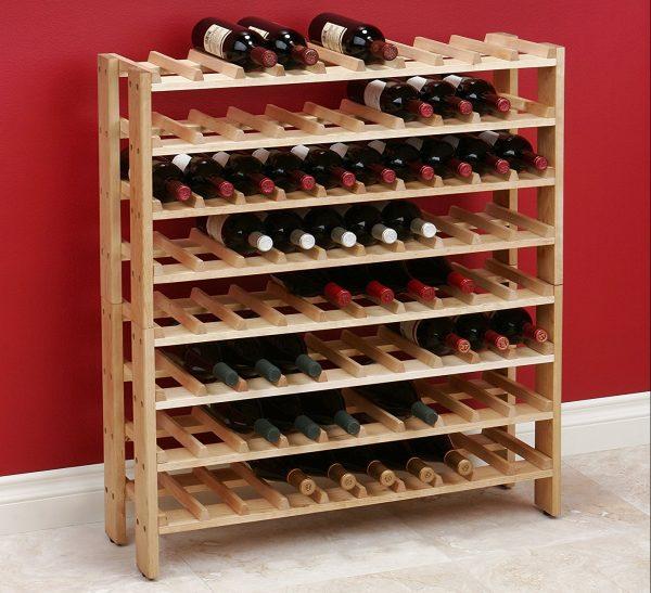 Самодельный стеллаж для вина