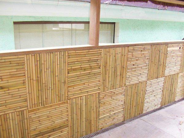 Стеновые бамбуковые модули