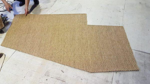 Укладка покрытия из сизаля Vera Cruz