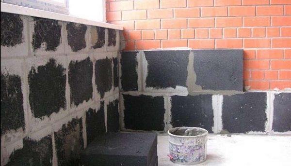 Утепление стен блоками из пеноцеолита