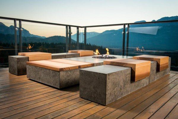 Бетонная мебель для террасы