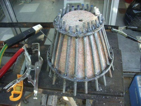 Изготовление жаровни на основе горшка