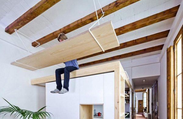 Монтаж балок для озеленения потолка