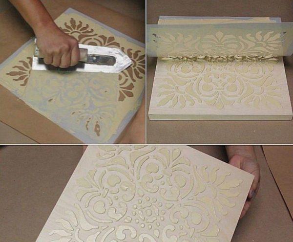 Нанесение объемного рисунка на плитку