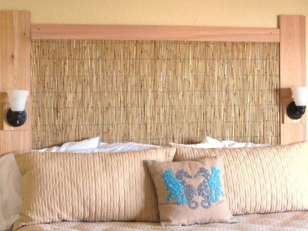 Оформление стен натуральными материалами