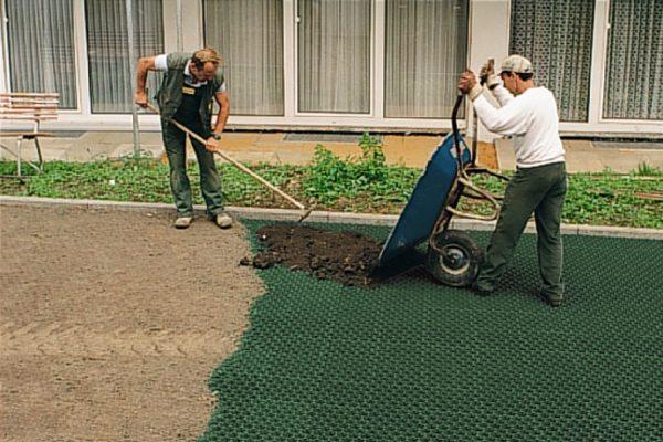 Подготовка основания под парковку