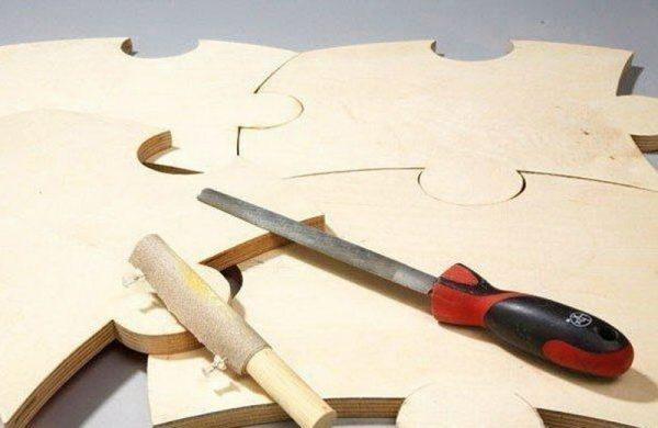 Подготовка пазлов для столешницы