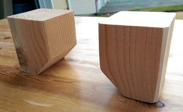 Самодельные ножки из деревянного бруса