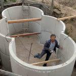 Сооружение погреба из бетонных колец