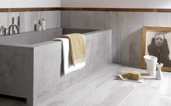Стильная ванна из бетона