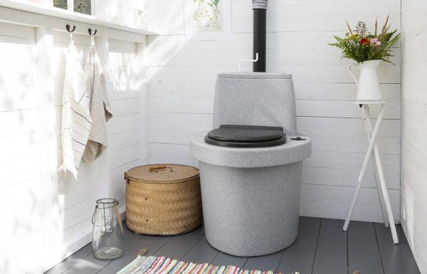 Торфяной туалет легко устанавливается